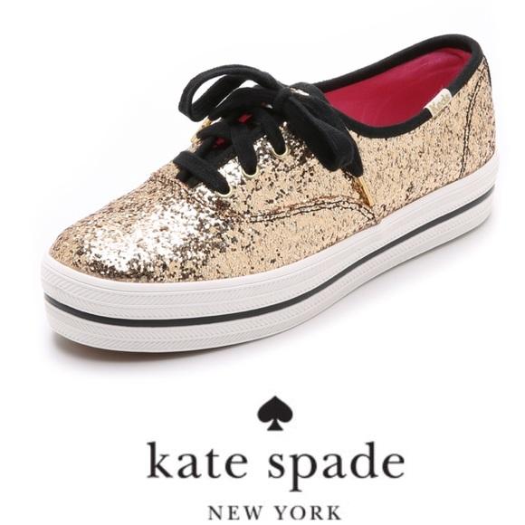 78a9a9b3594 🎀💕NWT KATE SPADE Triple Decker Glitter Keds